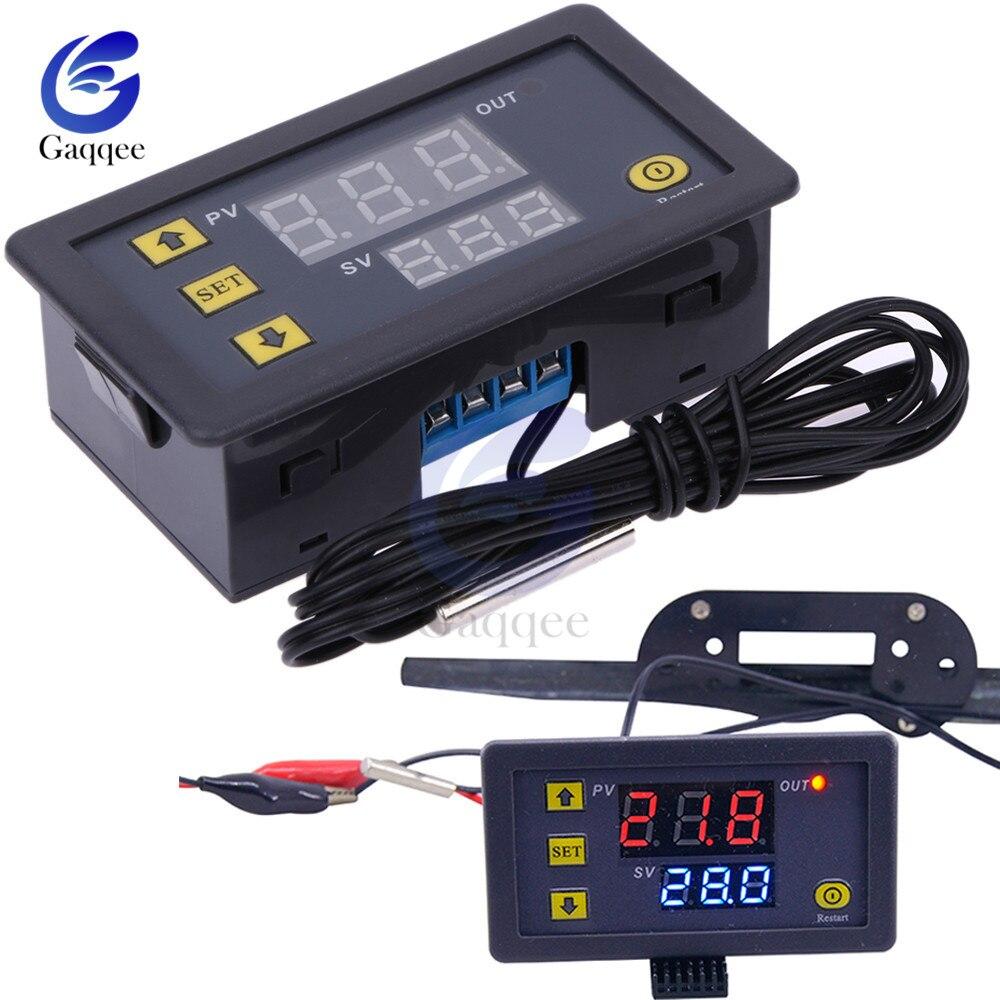 W3230 DC 12V AC 110 V-220 V 20A светодиодный цифровой регулятор температуры Термостат Регулятор термометра контроль нагрева