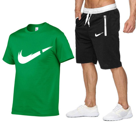 2019 New Brand Sets Summer Men Tees + Shorts Sets Summer Special Offer Comfortable Cotton Short Sleeve T-shirt Casual Style Set Lahore