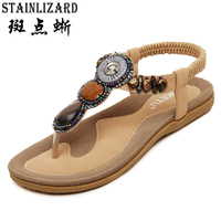 2016 New Arrival Women Sandals Fashion Flip Flops Flat Shoes Causal Bohemia Women Shoes Plus Size