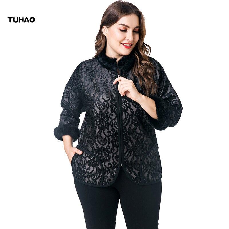 7f0f399aae8 TUHAO Plus Size 7XL 6XL Women s Faux Fur Coats Office Lady Elegant Good  Quality Jackets Vintage