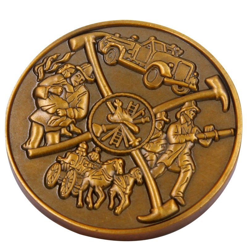 Custom Metal Coin with 3D Logo for Souvenir OEM antique bronze color coins in Non currency Coins from Home Garden
