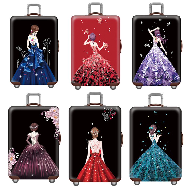 New Thicken Luggage Cover Elastic Luggage Protective Covers Suitable For 18-32 Inch Suitcase Dust Cover Travel Accessories
