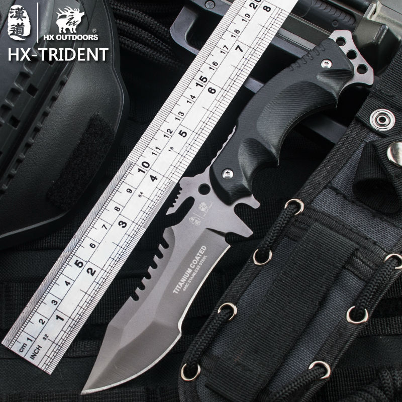 HX OUTDOORS Outdoor Portable Tactical army Survival Gear knife outdoor tools high hardness hunting knife essential tool fefense