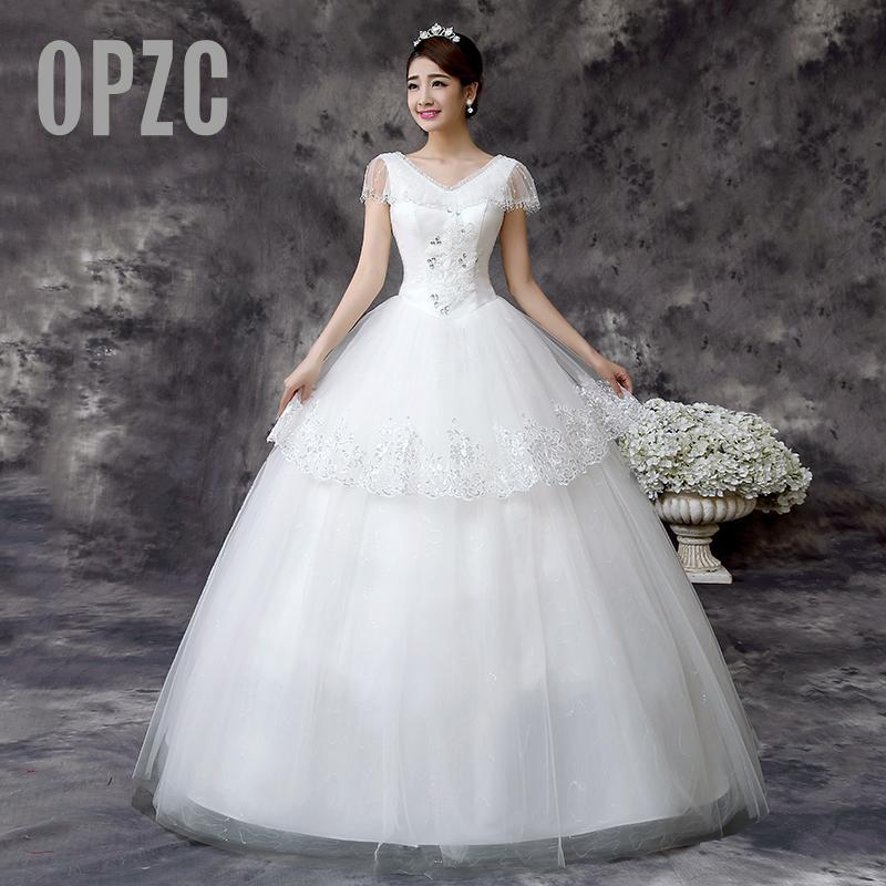 Wedding Dress 2017 Hot Sale Sweetangel China Wedding Gowns Korean Style Lace Wedding Dress De Noiva Fashion White Princess QD61