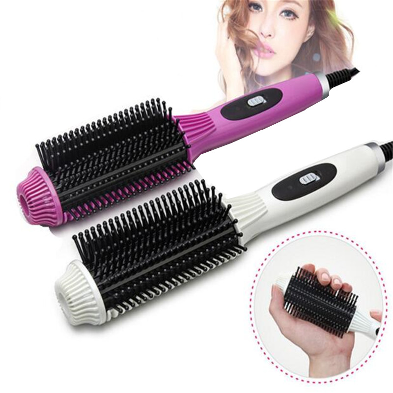 Multifunctional 2in1 Hair Curler Plate Hair Styler Comb Styling Tools Professional Hair Straightener Curling Straightening Irons