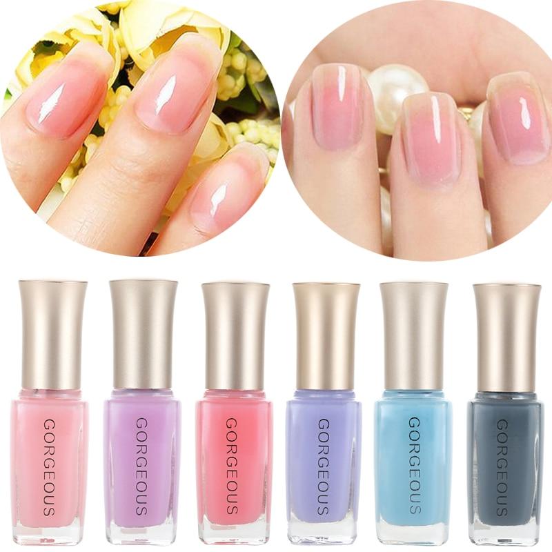 Новые лаки для ногтей Конфеты телесного Цвет Быстросохнущий прозрачный желе лак для ногтей 10 мл Экологически чистая прочного Unpeelable