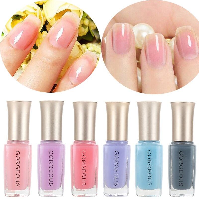 Vernis à ongles gelée translucide, couleur chair bonbon, séchage rapide, Protection de lenvironnement, durable, non pelable, 10ML, nouveauté