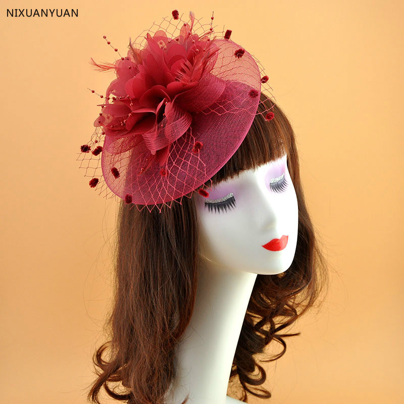 Ladies Hat Fascinator Formal Wedding Occasion Ivory Feathers Bows Detail