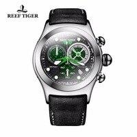 Риф Тигр Скелет спортивные часы для Для мужчин световой зеленый часы Дата Военные автоматические часы RGA782