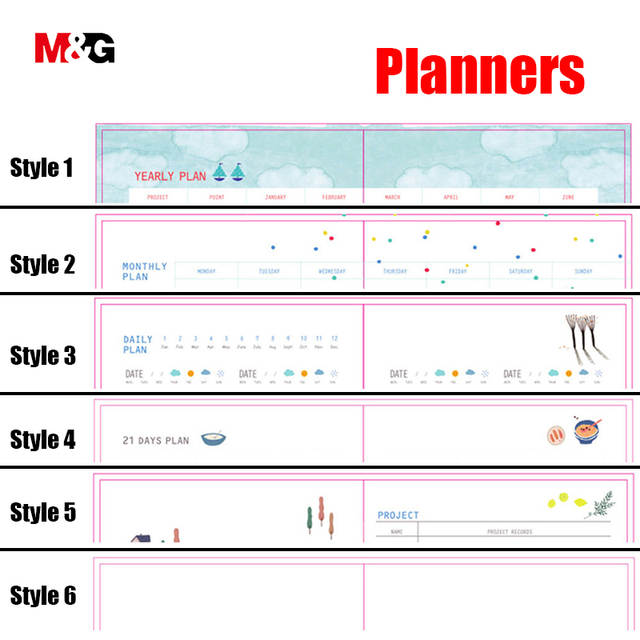 Online Shop MG Wholesale kawaii 365 day diary weekly planner cute