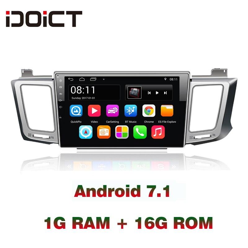 IDOICT 10inch Android Car DVD Player GPS NAVIGATION Multimedia For Toyota RAV4 2013-2017 WIFI Radio Bluetooth EasyConnection