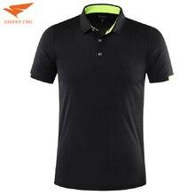 Мужская теннисная рубашка поло с коротким рукавом, быстросохнущая спортивная одежда, комплект, рубашка для бадминтона, для улицы, футбола, бега, футболка, спортивная одежда