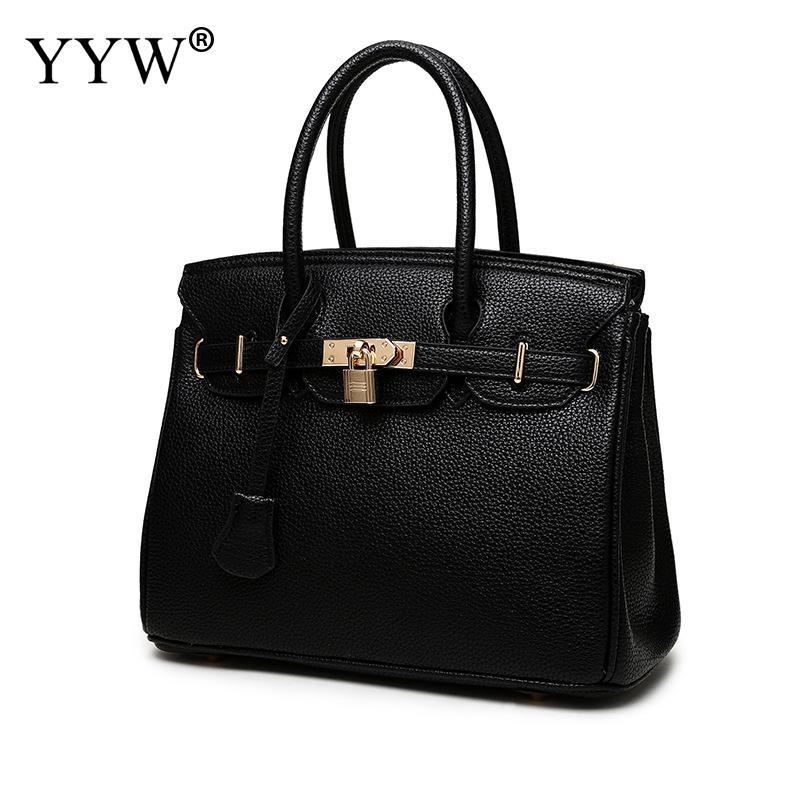 New Design turnlock Female Handbags PU Leather women Big Bags for shopping