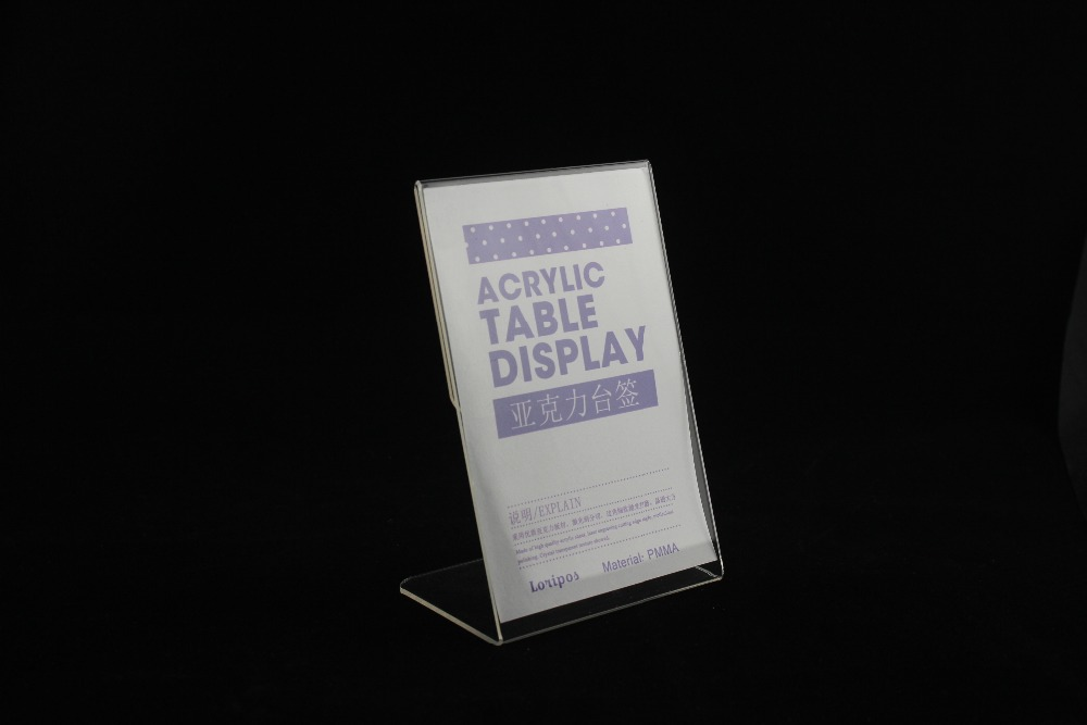 Precise 20pcs A5 Vertical Acrylic Magnetic Label Holder Stand L Black Sign Card Poster Menu List Frame Advertising Rack Desktop Desk Set