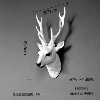 Wild animal Europe type deer head decorates wall to hang sitting room Bar background wall animal decoration personality cattle