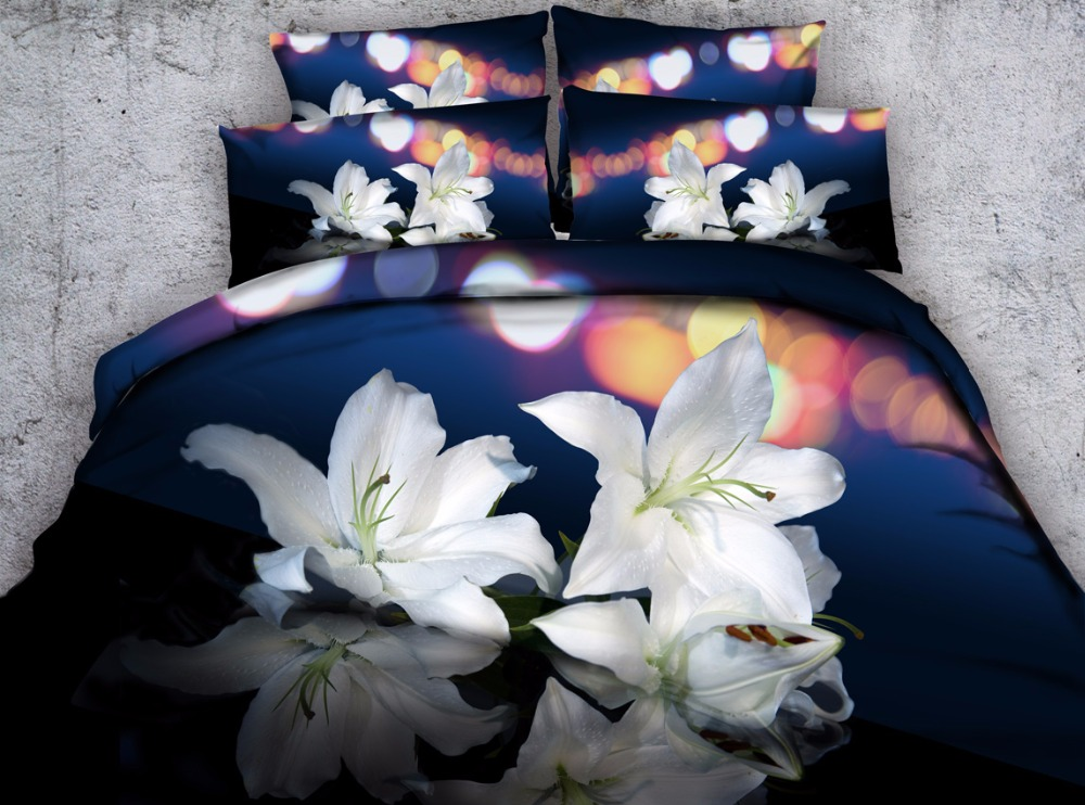 3d floral printed edding set queen size 4pcs duvet cover kids girls adult bedroom decor king full white gift bedlinen brief3d floral printed edding set queen size 4pcs duvet cover kids girls adult bedroom decor king full white gift bedlinen brief