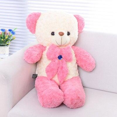 lovely bowtie bear plush toy large 100cm bear soft throw pillow, Christmas birthday gift F011 lovely bear plush toy large 130cm bear soft throw pillow christmas birthday gift f012