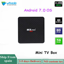 Vmade アンドロイドスマートテレビボックス H.265/HEVC Allwinner_H3 アンドロイド 7.0 OS 4 18K 1080 1080p 1 ギガバイト + 8 ギガバイトのサポート Youtube の無線 Lan Android ミニセットトップボックス