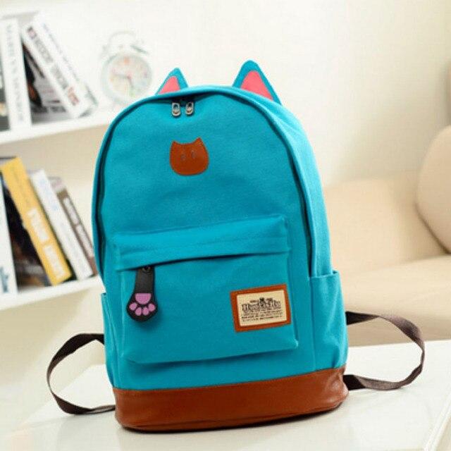 0f892a43d2 2018 New Korean Women Backpacks Canvas School Backpacks for Teenage Girls  Stylish Schoolbag Satchel Bolsas Mochilas Femininas