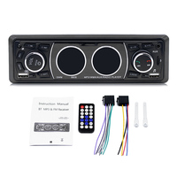 New Car MP3 Player Bluetooth Model Wireless BT Playback AUX TF Card U Disk Play Microphone Remote Control mp3 player 8808
