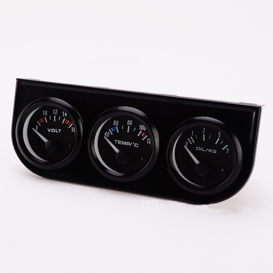 3in1 12 V Coche Medidor de Temperatura del Agua 52 MM Racing Voltímetro Medidor