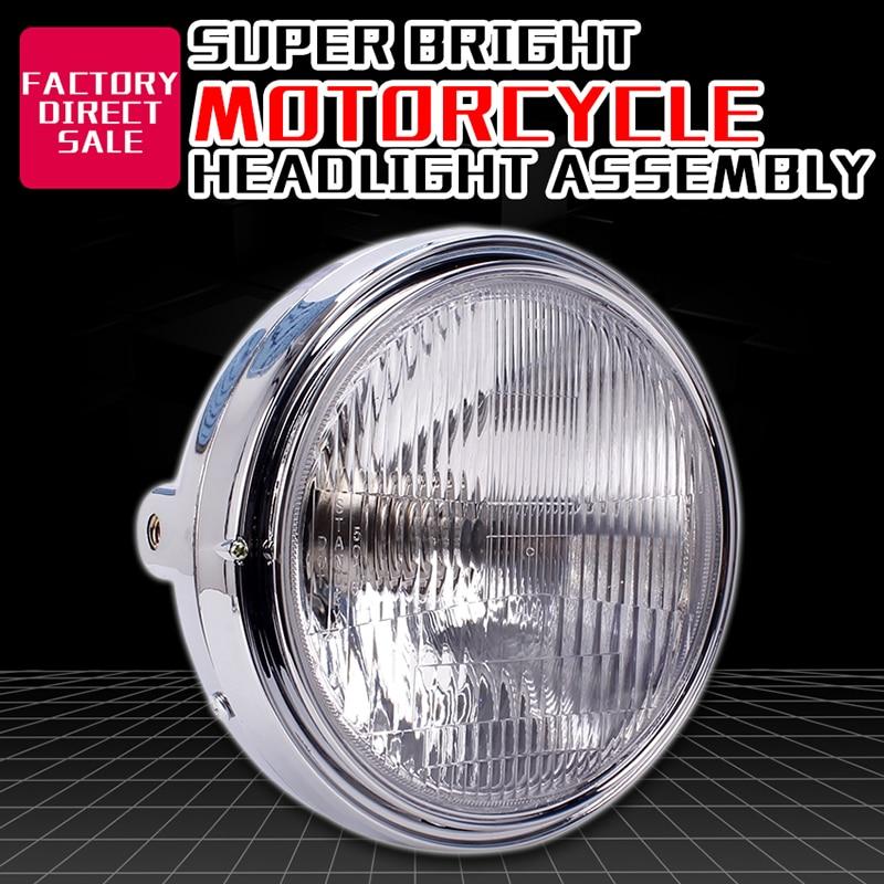 Headlight Assembly Round Bowl Lamp Phare For HONDA CB400 1992-1998 CB-1 VTR250 CB250 CB500 CB750 Motorcycle Accessories