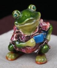 Skateboard Frog Faberge Styled Trinket Box Handmade Cute Frog keepsake Box Frog Jewellery Box Gift Casket Birthday Gift