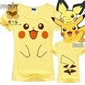 De alta calidad camiseta del desgaste diario kawaii Pikachu Pokemon Ir t shirt camiseta Gengar cara priting camiseta ac257