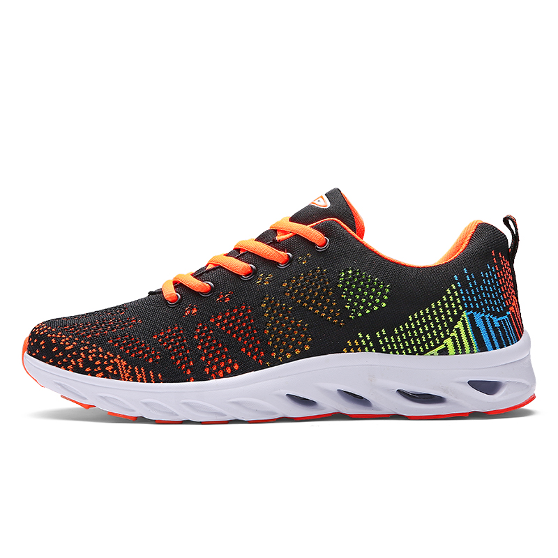Breathable sports shoes men women outdoor Athletic Training light for male Comfortable sneaker Fly line running shoes