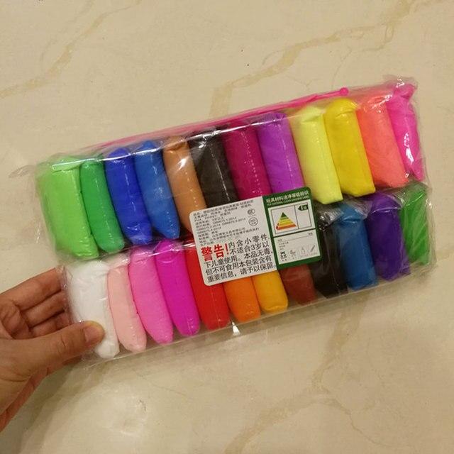12 cores 3D Espuma Macia Bola De Lodo Lodo Argila Plasticina DIY Algodão Macio Ofício Educação Antiestresse Brinquedo Crianças Brinquedos para crianças