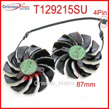 T129215SU 12V 0.50A 87mm VGA Fan For Gigabyte RX480 RX570 GTX1070 GTX1060 GTX1050 GTX1050TI WINDFORCE Graphics Card Cooling Fan