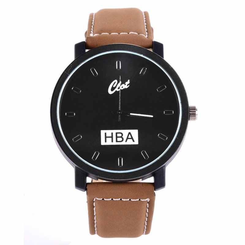 אופנה מותג HBA עור רצועה לשני המינים שעונים גברים קוורץ נשים שמלת שעון ספורט צבאי Relojes ז 'נבה שעוני יד