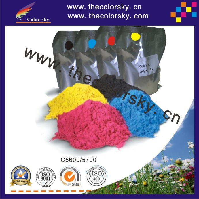 (TPOHM-C5600) laser color toner powder for OKI 43324405 C5600 C5700 C 5600 5700 toner cartridge 1kg/bag/color Free FedEx 12k 45807111 laser toner reset chip for oki b432dn b512dn mb492dn mb562dnw eu printer refill cartridge