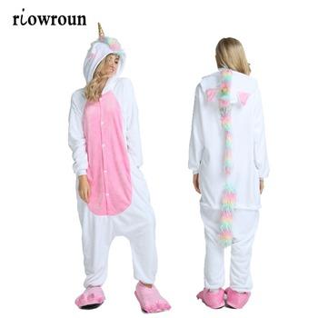 14fb725d2 Onesie Wholesale Animal Stitch Unicorn Kigurumi Adult Unisex Women Pajamas  Hooded Sleepwear Winter Flannel Halloween Onesies