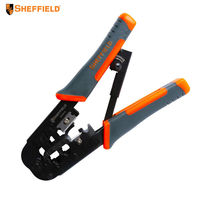 SHEFFIELD Multifunctional 6P/8P network crimping pliers Cable wire Stripping, Cutting and Precision terminal Crimping tools