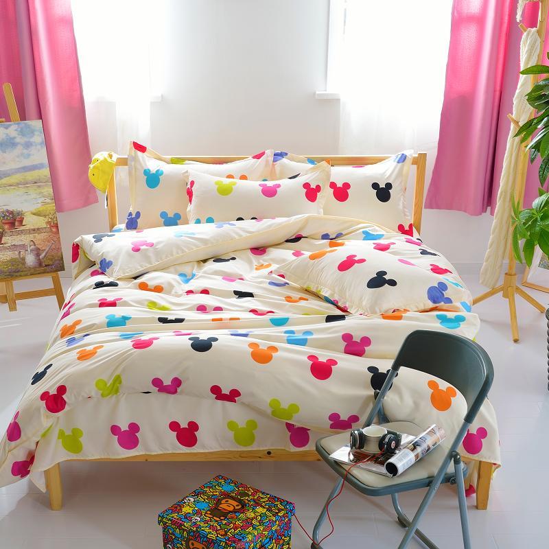 YOKASI cartoon mickey mouse comforter bedding set bed linen 3d Duvet Cover  bed sheet pillowcases Full. Popular Mickey Mouse Queen Sheet Set Buy Cheap Mickey Mouse Queen