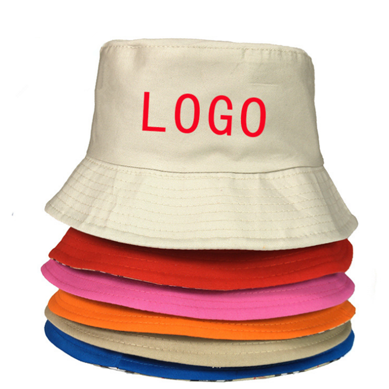 Custom Bucket Hats Small Order 10pcs OEM Embroidered Printed Logo 100 Cotton Good Quality Hat Low