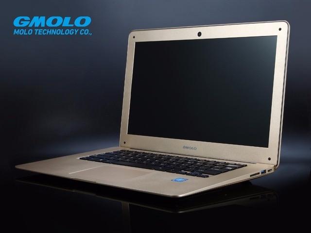 "GMOLO brand Russian free shipping 14"" ultrabook laptop, 4GB 160GB & mixed SSD slot, J1900 notebook computer HDMI wifi webcam"