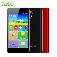 "VKworld F1 anciano Smartphone 4.5 ""RAM 1 GB ROM 8 GB Android 5.1 3G WCDMA Dual SIM MTK6580M de Cuatro Núcleos GPS OTA Altavoz Grande teléfonos celulares"