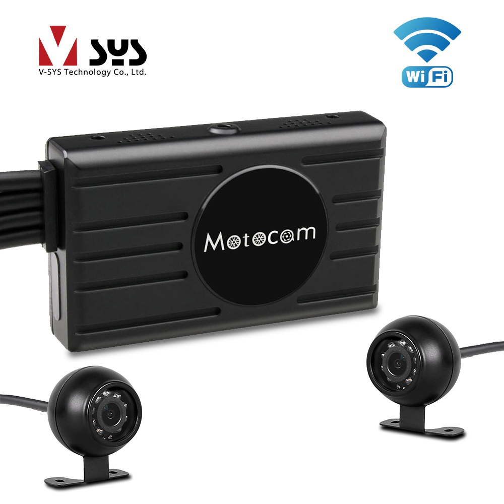 SYS Dual 1080P Car DVR WiFi with 2PCS Separated Front Rear View Night Vision IR Waterproof
