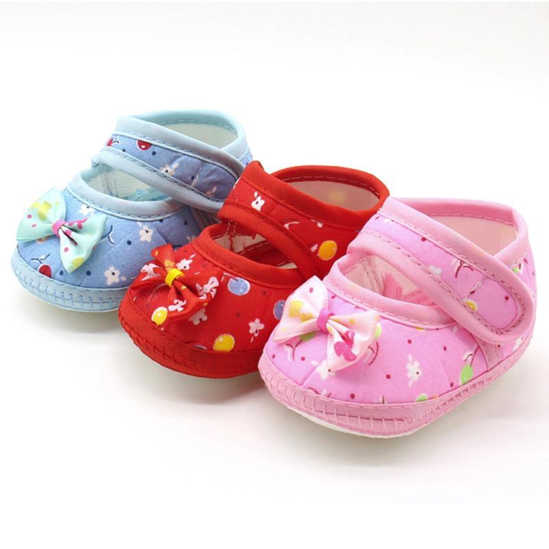 First Walker Newborn Baby Bow Girls Soft Sole Prewalker Warm Casual Flats Shoes Fringe Soft Soled Non-slip Footwear Crib Shoes