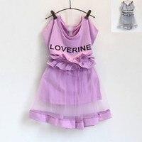 Kids 2017 Girls Summer Super Sweet Dress Lace Dress Waist Baby Suit
