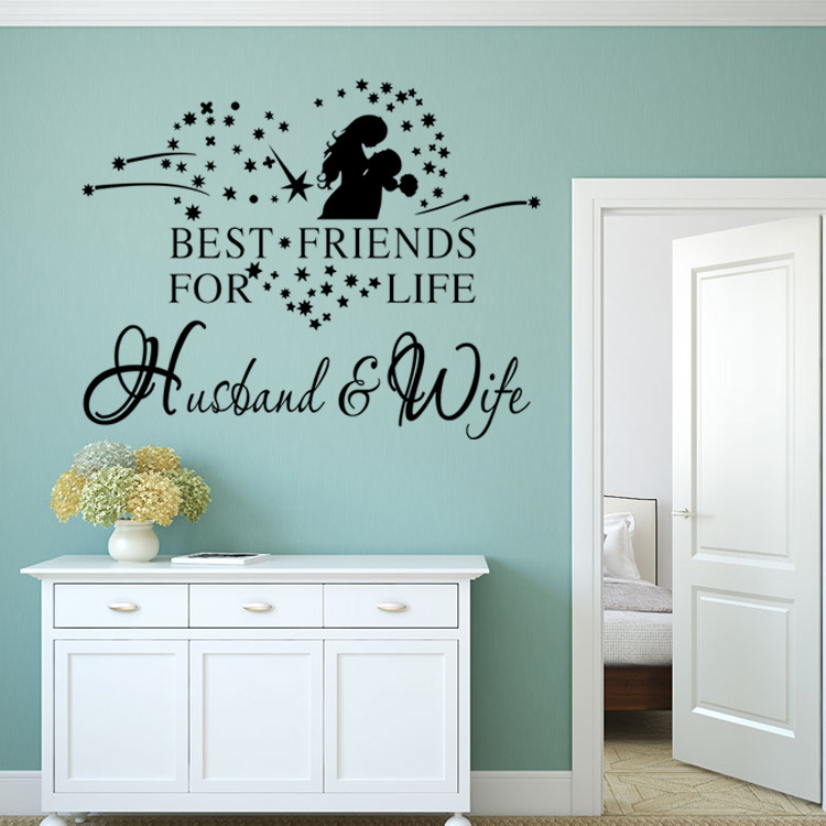 Husband And Wife Wall Decals Love Quote Decorations Living Room Sticker  Bedroom Wall Stickers Couples Room Decoration In Wall Stickers From Home U0026  Garden On ... Part 90