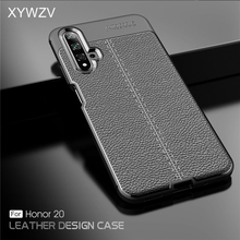 For Huawei Honor 20 Case Shockproof Luxury PU leather Rubber Soft Silicone Phone Case For Huawei Honor 20 Cover For Honor 20