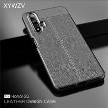 עבור Huawei Honor 20 מקרה עמיד הלם יוקרה עור מפוצל גומי רך סיליקון טלפון Case עבור Huawei Honor 20 כיסוי לכבוד 20