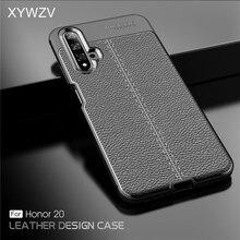 Voor Huawei Honor 20 Case Shockproof Luxe PU leer Rubber Zachte Siliconen Telefoon Geval Voor Huawei Honor 20 Cover Voor honor 20