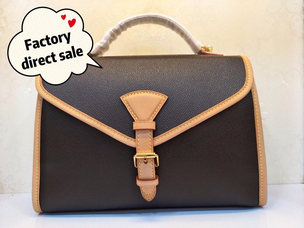 Best quality genuine Leather Luxury Brand Fashion Handbags Women's bag Runway For Female Ladies Europe Brand Free Shipping