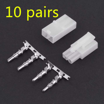 цена на 10pcs/lot big large Tamiya male femal plug connector with pin for FPV RC Model lipo battery charging cable