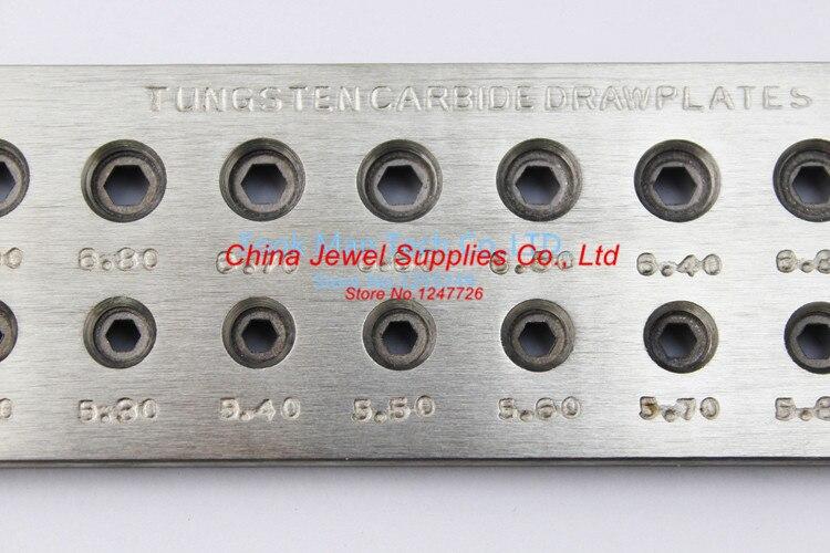 Livraison gratuite outils de fabrication de bijoux et plaque de traction en carbure de tungstène, 20 trous