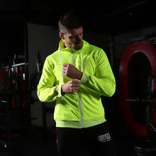 Fashion sporter mens hoodies streetwear casual zipper hoodie jacket 2019 clothing brand Bodybuilding sportswear